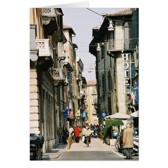 Straße in Verona Grußkarte