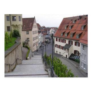 Straße in Weingarten, Deutschland Postkarte