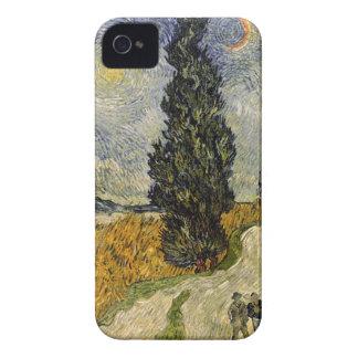 Straße Vincent van Goghs | mit Zypressen, 1890 iPhone 4 Hüllen