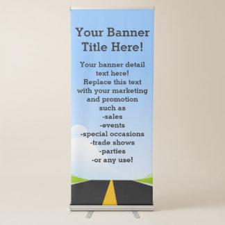 Straße zum zukünftigen fördernden Geschäft Ausziehbarer Banner