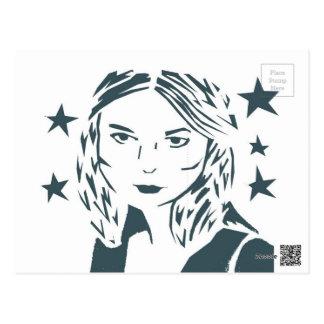 Straßen-Kunst-Frauen-Postkarte Postkarte