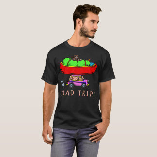 Straßen-Reise-Campings-Canoeing Wandern T-Shirt