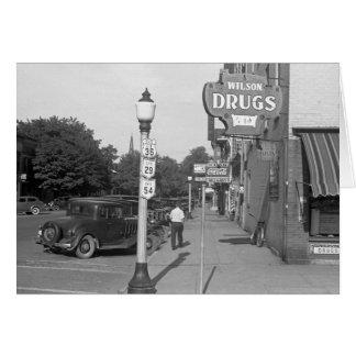 Straßen-Szene Urbana, Ohio, 1938 Karte
