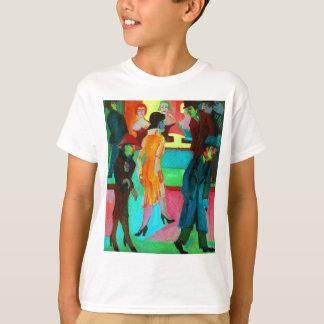 Straßen-Szene vor einem Friseursalon T-Shirt