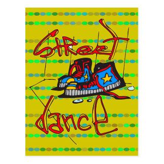 Straßen-Tanz und Schuhe Postkarte