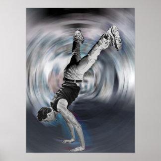 Straßen-Tanzen - Schwarzweiss Poster