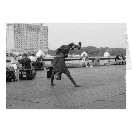 Straßen-Tänzer Grußkarte