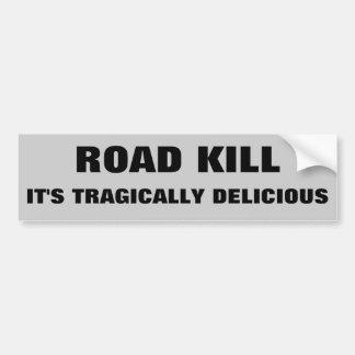 Straßen-Tötung, ist es tragisch köstlich. Dunkler Autoaufkleber