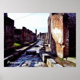 Straßen von Pompeji Poster