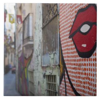Straßenkunst auf Straße Calle de la Libertad Keramikfliese