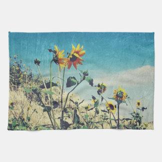 Straßenrand-Gesprächs-Sonnenblume-Geschirrtuch Küchenhandtücher