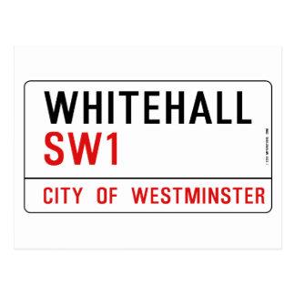 Straßenschild Whitehall London Postkarte