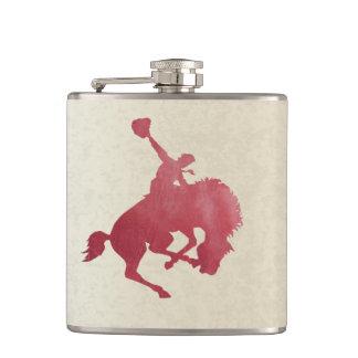 Sträubende Pferden-Flasche Flachmann