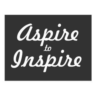 Streben Sie inspirieren motivierend Postkarte