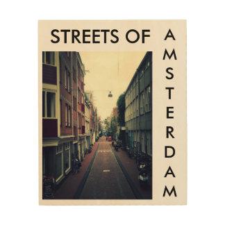 Streets of Amsterdam Holzwanddeko