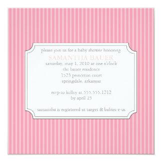 {Streifen} Babypartyeinladung Quadratische 13,3 Cm Einladungskarte