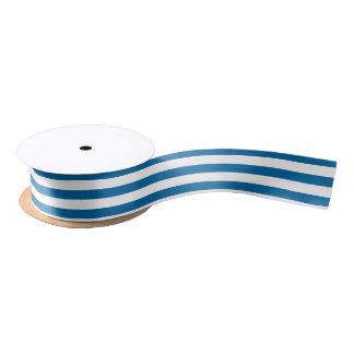 Streifen | blau u. Weiß | kundengerechtes | Satinband