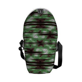 Streifen-Camouflage-Muster-Druck Kurier Taschen