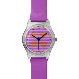 Streifen, Diamanten, Stellen-Muster durch Shirley Uhr