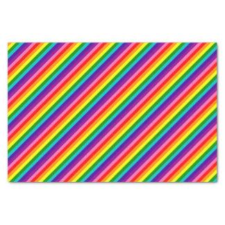 Streifen-Flagge des Regenbogen-Gay Pride-LGBT der Seidenpapier