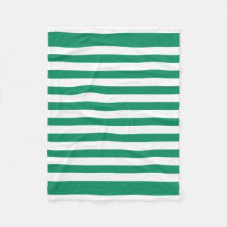 Streifen | grün u. Weiß | kundengerechtes | Fleecedecke
