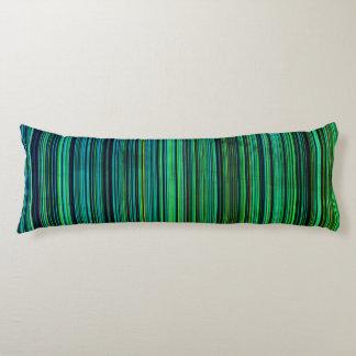 Streifen-Körperkissen des grün-blauen Aqua Retro Seitenschläferkissen