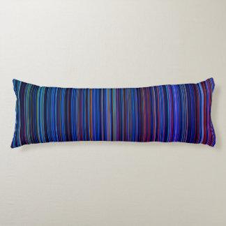 Streifen-Körperkissen des lila blauen Aqua retro Seitenschläferkissen