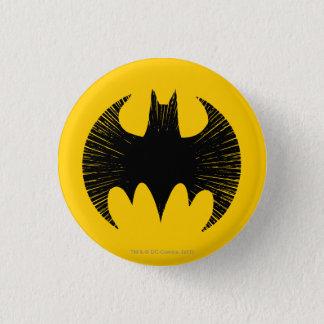 Streifen-Logo Batman-Symbol-| Runder Button 2,5 Cm