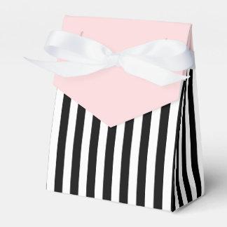 Streifen-Schwarzweiss-Band-Rosa-Hochzeits-Geschenk Geschenkkartons