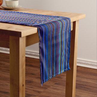 Streifen-Tabellenläufer des lila blauen Aqua retro Kurzer Tischläufer