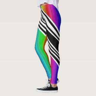 Streifen-vertikale Griff-Regenbogen-Frequenz Leggings