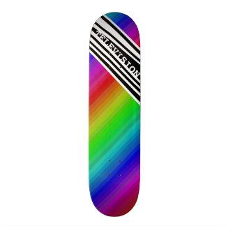 Streifen-vertikaler Griff-Regenbogen Personalisiertes Skatedeck