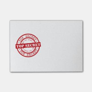 Streng geheim post-it klebezettel