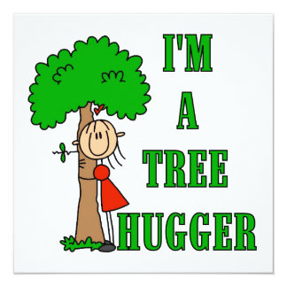 Strichmännchen-Baum Hugger T-Shirts und Geschenke Personalisierte Einladungskarten