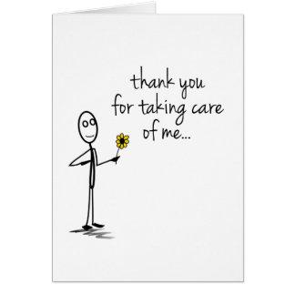Strichmännchen danken Ihnen, Notecard zu pflegen Karte