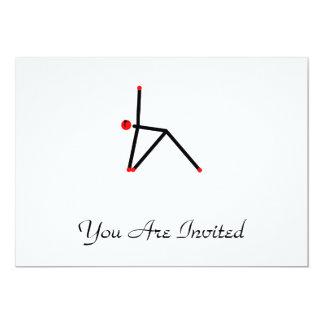 Strichmännchen der Dreieckyogahaltung 12,7 X 17,8 Cm Einladungskarte