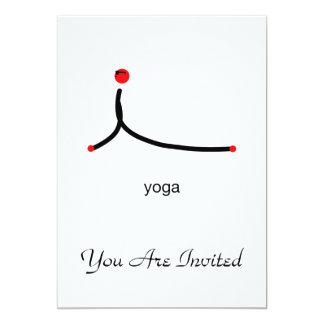 Strichmännchen der Kobrayoga-Pose mit Yogatext 12,7 X 17,8 Cm Einladungskarte