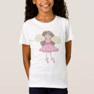 Strichmännchen-Engels-Ballerina T-Shirt