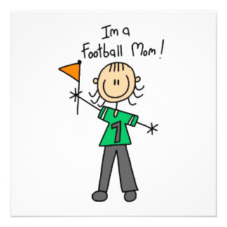 Strichmännchen-Fußball-Mamma Individuelle Ankündigungskarte