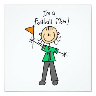 Strichmännchen-Fußball-Mamma Quadratische 13,3 Cm Einladungskarte