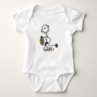 Strichmännchen-grundlegende Fußball-T - Shirts und