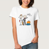Strichmännchen-Hochzeits-Flitterwochen-T - Shirts