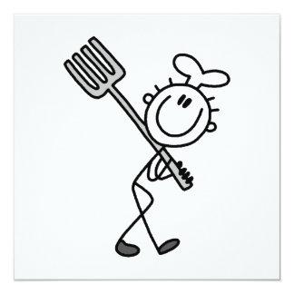 Strichmännchen-Koch mit Gabel Individuelle Ankündigungen