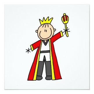 Strichmännchen-König Quadratische 13,3 Cm Einladungskarte