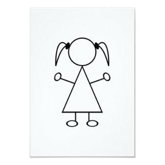 Strichmännchen-Mädchen Individuelle Einladung