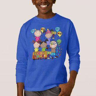Strichmännchen scherzt 100 Tage intelligenter T-Shirt