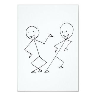 Strichmännchen-Tanzen Einladung