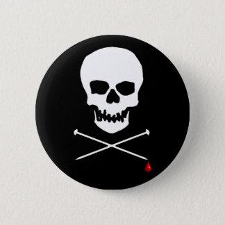 Strick, bis Sie bluten Runder Button 5,1 Cm