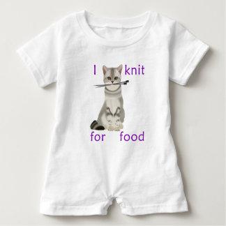 Strick für Nahrung Baby Strampler