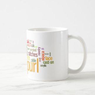 Strick-Schraubendraht-strickendes Lexikon für Kaffeetasse